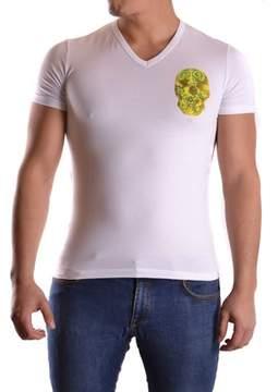 Galliano Men's White Cotton T-shirt.