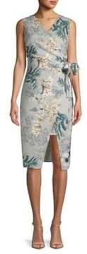 ABS by Allen Schwartz Sleeveless Floral Knee-Length Dress
