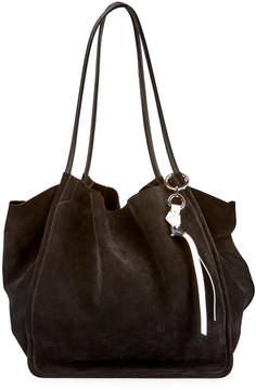 Proenza Schouler Extra-Large Suede Tote Bag, Black
