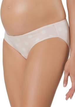 A Pea in the Pod Cotton Collection Dot Print Maternity Bikini Panties (single)