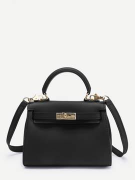 Shein Twist Lock Detail PVC Shoulder Bag