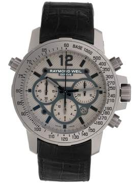 Raymond Weil Nabucco Chronograph 7820-STC-05607 Gray Dial & Black Leather Automatic 46mm Mens Watch