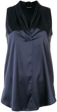 Emporio Armani pleated neck blouse