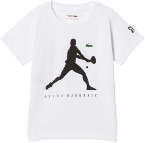 Lacoste White Technical Jersey Graphic T-Shirt