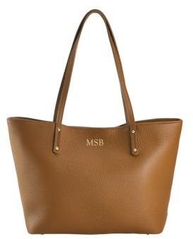GiGi New York Personalized Taylor Mini Pebbled Leather Tote