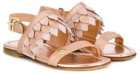 Roberto Cavalli fringed leaf sandals