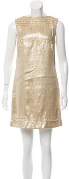 Christian Dior Silk-Blend Woven Sheath Dress