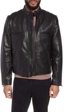 Hudson Jeans Racer Slim Fit Leather Moto Jacket
