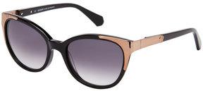 Balmain BL2072 Black & Bronze-Tone Cat Eye Sunglasses