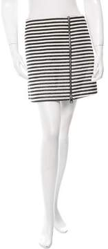 Bouchra Jarrar Striped Mini Skirt w/ Tags