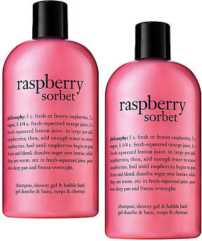 philosophy Raspberry Sorbet Shampoo, Bath & Shower Gel - Set of Two