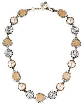Isaac Mizrahi Crystal & Resin Collar Necklace