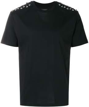 Les Hommes laced shoulder T-shirt
