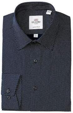 Ben Sherman Double Dot Print Tailored Slim Fit Dress Shirt