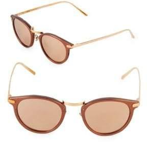 Linda Farrow 48MM Round Sunglasses