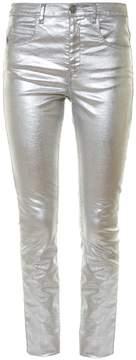 Etoile Isabel Marant Ellos metallic high-rise skinny jeans