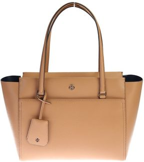 Tory Burch Leather Parker Small Tote - BEIGE - STYLE