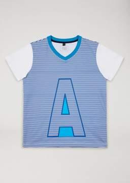 Armani Junior Striped T-Shirt With Logo