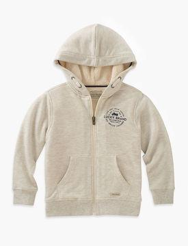 Lucky Brand Long Sleeve Sherpa Lined Hoodie