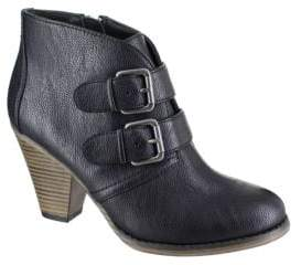 Mia Farris Double Buckle Ankle Boots