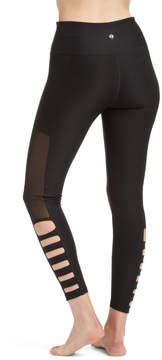 ABS by Allen Schwartz Black Lattice Cutout Leggings - Women