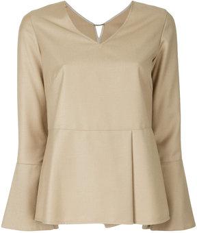 ESTNATION V-neck blouse
