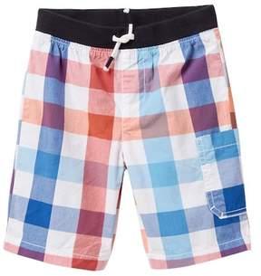 Joe Fresh Poplin Plaid Shorts (Toddler & Little Boys)
