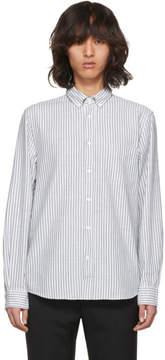 Acne Studios Green and White Striped Isherwood Shirt