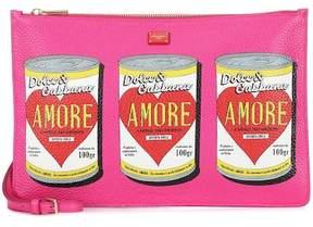 Dolce & Gabbana Sicily printed leather shoulder bag