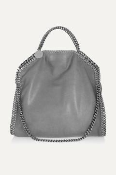 Stella McCartney The Falabella Medium Faux Brushed-leather Shoulder Bag - Light gray