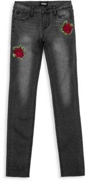 Hudson Toddler's, Little Girl's& Girl's Embroidered Storm Skinny Jeans