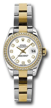 Rolex Lady Datejust White Diamond Dial Steel and 18K Yellow Gold Automatic Watch