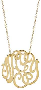 ginette_ny Mini Lace Monogram Necklace - Yellow Gold