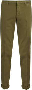 Prada Slim-leg stretch-cotton chino trousers