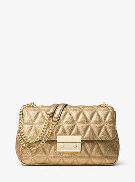 Michael Kors Sloan Metallic Quilted-Leather Shoulder Bag - GOLD - STYLE