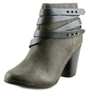 Material Girl Mini Round Toe Synthetic Ankle Boot.