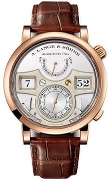A. Lange & Söhne A. Lange and Sohne Zeitwerk 145.032 18K Rose Gold / Leather 44.2mm Mens Watch