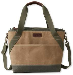 Insulated Waxed Canvas Tote, Medium