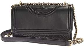 Tory Burch Leather Fleming Micro Shoulder Bag - BLACK - STYLE