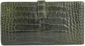 Hermes Béarn crocodile wallet - GREEN - STYLE