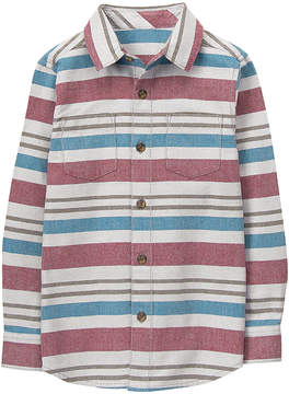 Gymboree Red & Blue Stripe Flannel Button-Up - Toddler & Boys