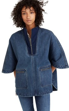 Madewell Women's Denim Poncho