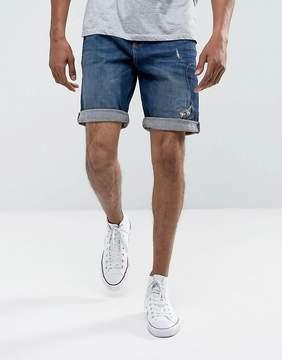 Esprit Denim Shorts in Slim Fit With Repair Details