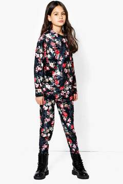 boohoo Girls Printed Floral Valore Tracksuit Set