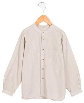 Bonpoint Boys' Striped Button-Up Shirt