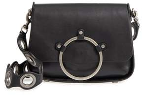 Rebecca Minkoff Ring Leather Shoulder Bag - BLACK - STYLE