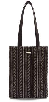 Saint Laurent Chevron-print canvas tote bag