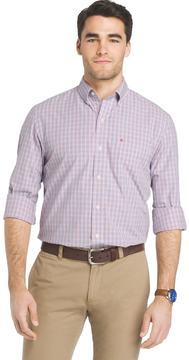 Izod Men's Essential Regular-Fit Checked Button-Down Shirt