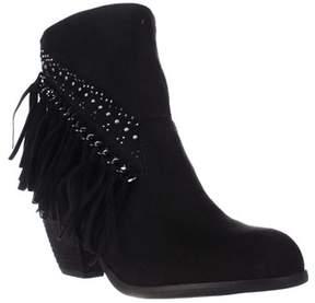Not Rated Noora Studded Fringe Ankle Boots, Black.