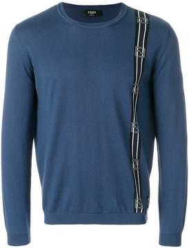 Fendi contrast panel pullover